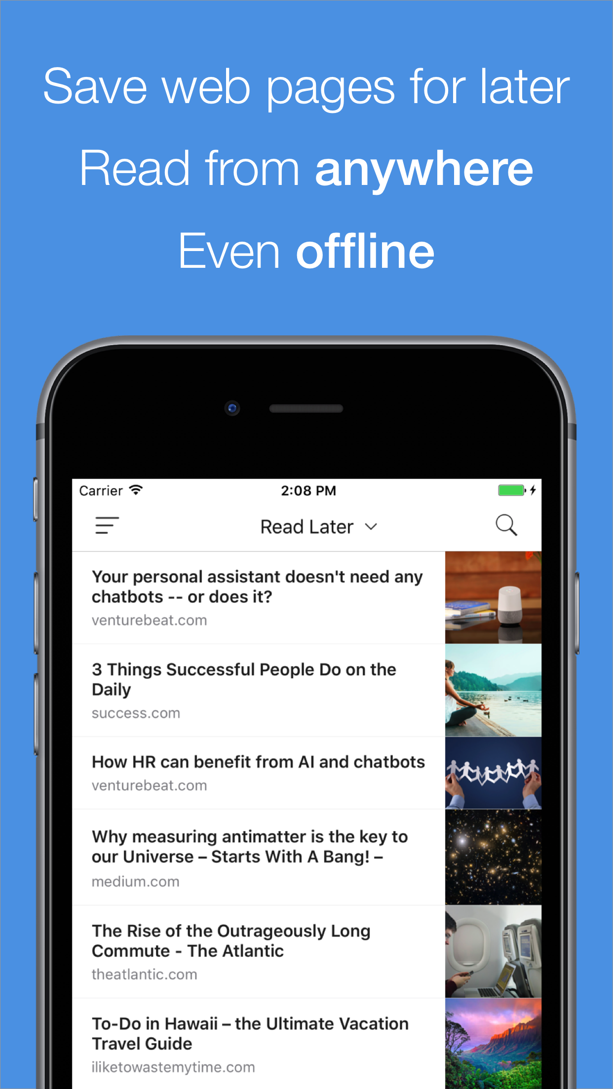 PaperSpan Introduces Read It Later app for iOS Image